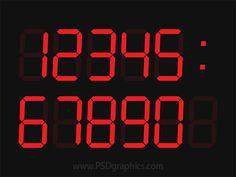 Digital clock #PSD sablon: http://www.psdgraphics.com/templates/digital-clock-template-psd/