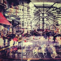 Double exposure fotografie in Londen en New York