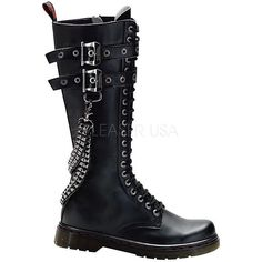 Disorder-403, Demonia Boots, Gothic Boots, Goth Boots, Punk Rock... ($129) ❤ liked on Polyvore