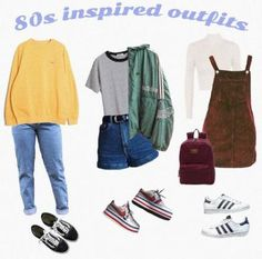 Mode Inspiration Moodboard Outfit 28 Ideen - New Ideas 80s Inspired Outfits, 80s Style Outfits, Vintage Outfits, 80s Outfit, Retro Outfits, Trendy Outfits, 1980s Style Clothes, Vintage Shorts, Dress Vintage