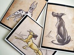GREAT DANE Greeting Cards by SUPATOON on Etsy, $18.00