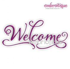 Embroidery Designs (All) - Elegant Welcome Home Decor on sale now at Embroitique!