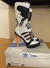 1c9236c06e3ffa Image result for Adidas By Jeremy Scott 130mm JS High Heel Leather Boots  Sneaker Heels