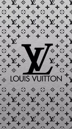 ルイヴィトン/ロゴモノグラムシルバー iPhone壁紙 Wallpaper Backgrounds iPhone6/6S and Plus LOUIS VUITTON