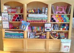 Dolls House Miniatures - Handmade Pine Triple Haberdashery / Sewing Shelf | eBay