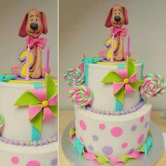 Cake with dog by MyskaCakes