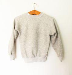Vintage Kids Plain Gray Athletic Sweatshirt by FreshtoDeathVintage on Etsy