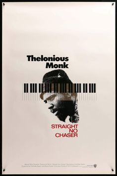 "Film: Thelonious Monk: Straight, No Chaser (1988) Year poster printed: 1988 Country: USA Size (inches): 27"" x 41"" This is an original, unfolded one-sheet movie poster from 1988 for Thelonious Monk: Straight, No Chaser featuring John Coltrane, Nica De, Thelonious Monk Jr., Nellie Monk and Thelonious Monk. Charlotte Zwerin directed the music documentary that was Executive Produced by Clint Eastwood. The single-sided poster measures 27"" x 41"" is in very good to excellent condition with minimal…"