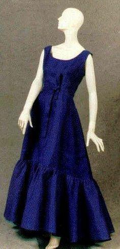 1961 Balenciaga shocking pink slubbed silk gauze evening gown and cape