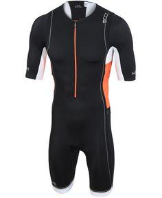 HUUB Core Long Course Triathlon Suit - Mens Black/Orange/White from HUUB Design