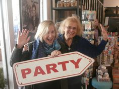 New York - with illustrator-picture book writer -fabuloooous Frane Lessac doing what kids' authors do on tour  .. party