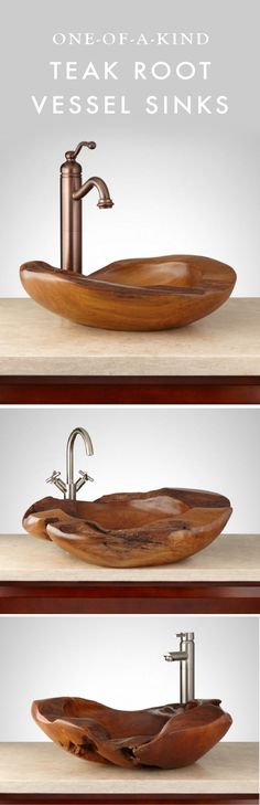 By adding a one-of-a-kind Teak Root Vessel Sink to your bathroom, you can easily incorporate a fresh and unique look to the space. Explore the different options to see which one works best for you!