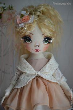 Купить Ника! Авторская куколка ручной работы! - бежевый, авторская кукла, блондинка