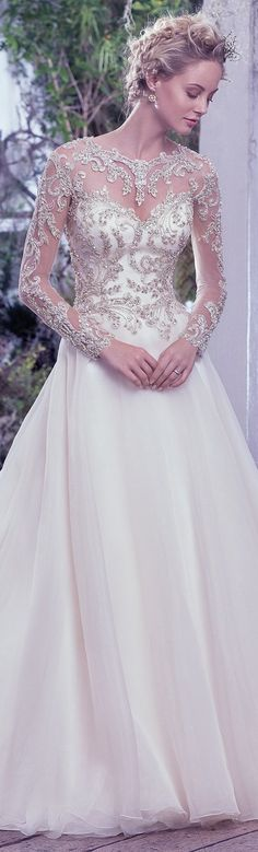 Wedding Dress by Maggie Sottero 2016 Fall/Winter Collection - LORENZA | #maggiesottero #maggiebride