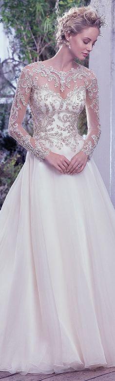 Wedding Dress by Maggie Sottero 2016 Fall/Winter Collection - LORENZA | #maggiesottero #maggiebride