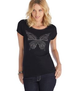 White House | Black Market  #whbm Butterfly Tee