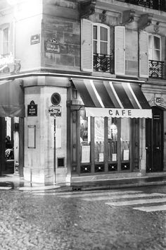 Would love to walk by Black and White Photography Paris Cafe on a by rebeccaplotnick