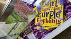 Dont Think About Purple Elephants book display