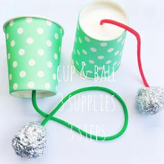 CUP & BALL   3 supplies • paper cup + string + aluminum foil   3 steps • 1…