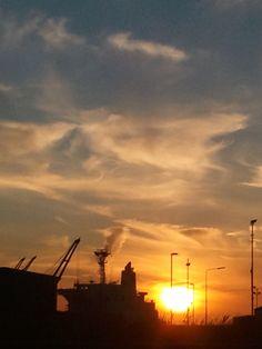 More sunrise over Pompey Dockland.