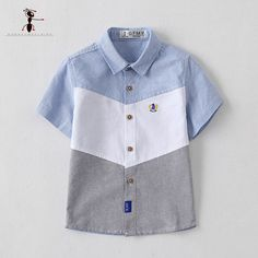 Cheap shirts for kids, Buy Quality blouse for kids directly from China kids blouse Suppliers: Kung Fu Ant 2017 Turn-down Collar Blouses for Boys Short Sleeve Summer Cotton Shirts for Kids Blue Yellow Green Pink 2674 Baby Boy Shirts, Boys Shirts, Baby Boy Outfits, Kids Outfits, Half Shirts, Baby Boy Fashion, Kids Fashion, Young Boys Fashion, Boys Clothes Style