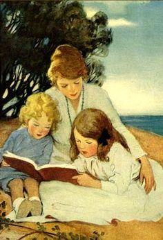 Jessie Willcox Smith, 1916 - Mother and Children Reading