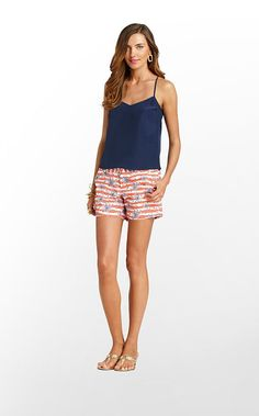 Resort White She's a Firecracker Glow Callahan Shorts from Lilly Pulitzer