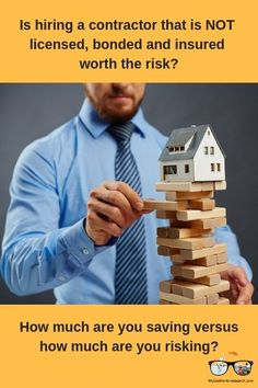 Is hiring an uninsured unlicensed contractor worth the risk? Real Estate Articles, Real Estate Information, Real Estate Tips, Home Selling Tips, Home Buying Process, Mortgage Tips, First Time Home Buyers, Real Estate Investing, New Job