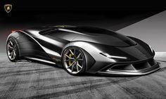 Lambo - design by Ernani Caires Lamborghini Concept, Lamborghini Cars, Bugatti, Ferrari F80, Car Design Sketch, Car Sketch, Jan Van Eyck, Kindergarten Blogs, Automobile