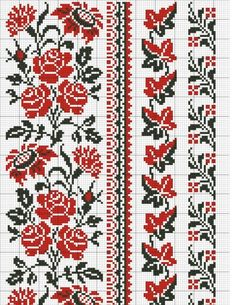 3 Cross Stitch Borders, Cross Stitch Flowers, Cross Stitch Charts, Cross Stitch Designs, Cross Stitching, Cross Stitch Embroidery, Cross Stitch Patterns, Hand Embroidery, Embroidery Designs