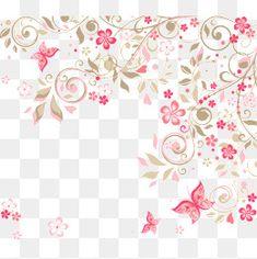 Flores cor - de - Rosa, Fundo romântico, Cor - De - Rosa, Romântico Flores, BackgroundPNG e Vector