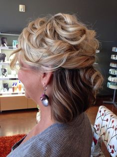 Mother-of-the-bride hairstyle.