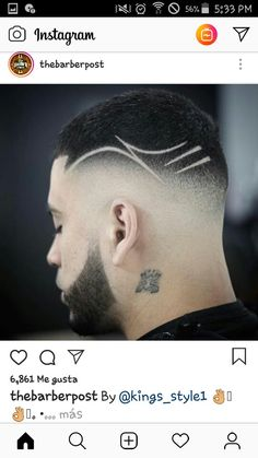 Barber Haircuts, Haircuts For Men, Hair And Beard Styles, Curly Hair Styles, Haircut Designs For Men, Hair Tattoo Designs, Fade Haircut, Haircut Men, Gents Hair Style