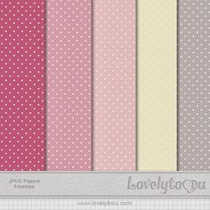Lovelytocu - the Blog: Paper Pack set Freebie #16 - free digital papers in muted grays and pinks