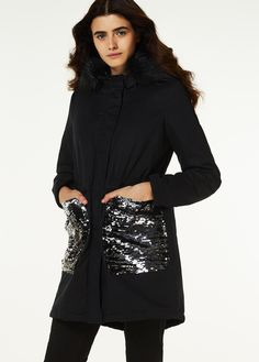 Lśnij jak diament w nowej parce Liu Jo #fashion #winter #trend