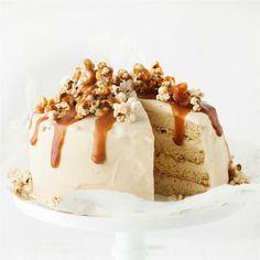 Caramel Popcorn Ice-Cream Cake