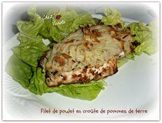 Filet de poulet en croute de pommes de terre pour 4 pers ; 8PP  la part Dans le cas d'une JSC  ; 0PP la part