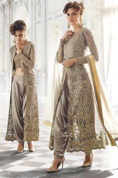 Grey Georgette Latest Designer Suit