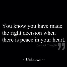 And Peace I have