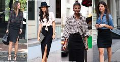 How To Make The Most Of Your Black Pencil Skirt