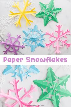 How to cut paper snowflakes. How to cut paper snowflakes. Paper Snowflake Template, Origami Templates, Paper Snowflakes, Box Templates, Creative Arts And Crafts, Paper Crafts For Kids, Crafts For Kids To Make, Creative Kids, Winter Activities For Kids