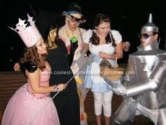 Glinda the good witch  Homemade Wizard of Oz Costume: This homemade Wizard of Oz costume idea was last minute that came together well. All costumes were homemade (except Dorothy) by the people wearing them.: