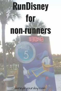 """RunDisney for non-runners - would you like to do a run Disney event but you think you're not a """"runner""""?  Think again!  RunDisney races are pretty laid back and accessible to people of many abilities levels!  Read my tips here if you consider yourself a non-runner:  Disney in your Day"""