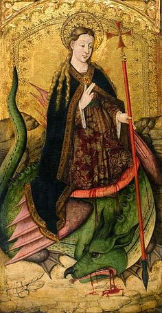 (♥) Dragons must be slain.   Rexach painting,1456