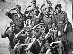 The Spanish Civil War (July 1936 - April 1939) was fought between anti-communist forces and left-wing  republicans.  The anti-communist forces were backed up by Germany and Italy, and the Soviet Union supported the left-wing republican faction.