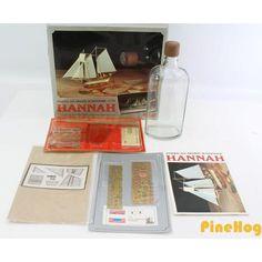 For Sale: Amati Hannah Wood Model Ship in a Bottle Kit Amercian Armed Schooner - 1775