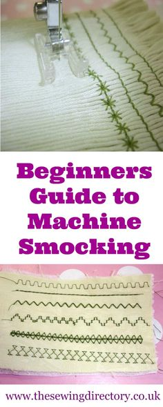 Smocking with your sewing machine - a beginner's guide to the technique and stitches. Sewing Basics, Sewing Hacks, Sewing Tutorials, Sewing Tips, Basic Sewing, Sewing Ideas, Smocking Patterns, Sewing Patterns Free, Tatting Patterns