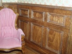 George the Miniguy: Wooden Wainscoting Adds Warmth to a Room