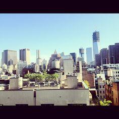 """Beautiful day in TriBeCa #NYCskyline"" —patrickjamesmiller"
