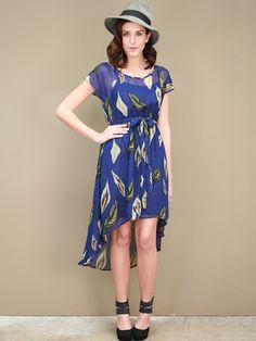 canal blue floral dress